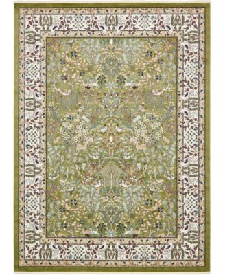 Zara Zar7 Green 10' x 13' Area Rug