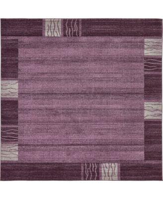 Lyon Lyo1 Purple 8' x 8' Square Area Rug
