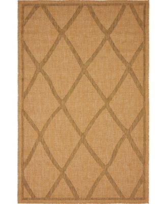 Pashio Pas7 Light Brown 5' x 8' Area Rug