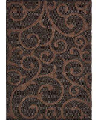 """Pashio Pas7 Chocolate Brown 8' x 11' 4"""" Area Rug"""
