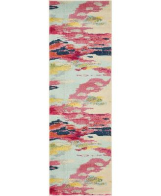 "Newwolf New4 Pink 2' 2"" x 6' 7"" Runner Area Rug"