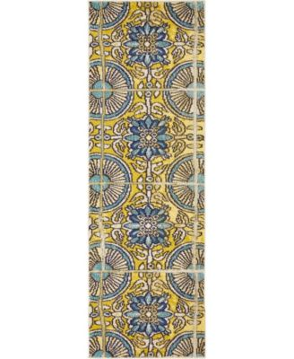 "Newwolf New5 Gold 2' 2"" x 6' 7"" Runner Area Rug"