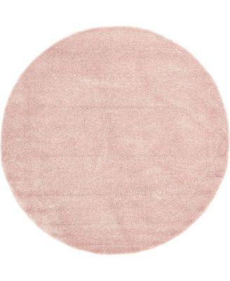 Uno Uno1 Pink 8' x 8' Round Area Rug