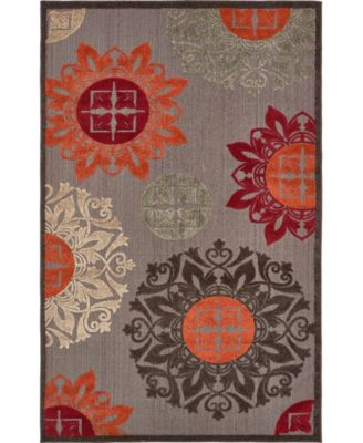 Pashio Pas4 Brown 5' x 8' Area Rug