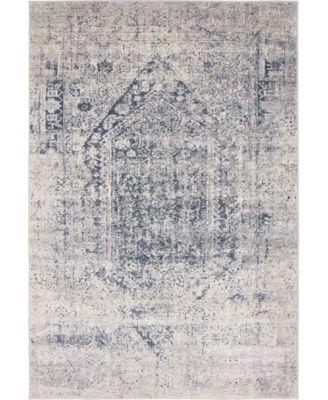 Odette Ode1 Gray 4' x 6' Area Rug