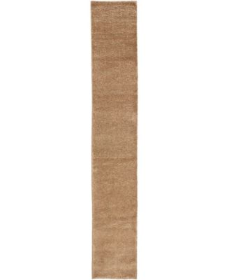 "Uno Uno1 Light Brown 2' 2"" x 13' Runner Area Rug"