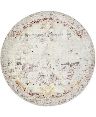 Malin Mal1 Gray 8' x 8' Round Area Rug