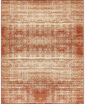 Jasia Jas08 Terracotta 8' x 10' Area Rug