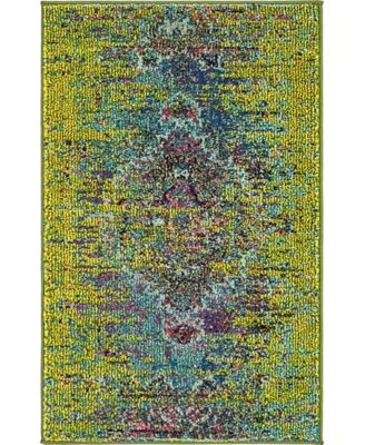 "Brio Bri6 Green 2' 2"" x 3' Area Rug"