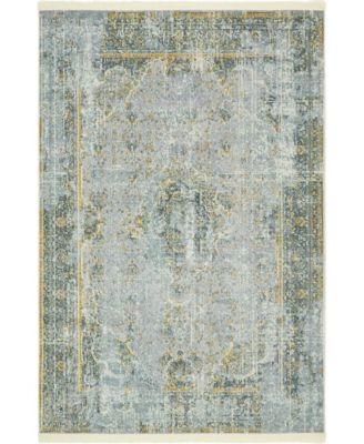 "Kenna Ken1 Gray 4' 3"" x 6' Area Rug"