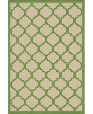 Pashio Pas5 Green 6' x 9' Area Rug