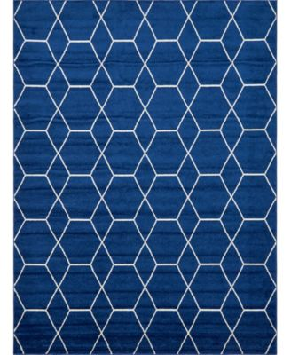 Plexity Plx1 Navy Blue 9' x 12' Area Rug