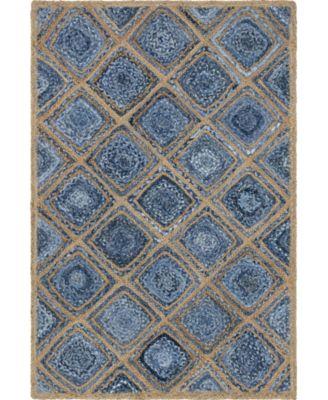 Braided Bsq6 Blue 4' x 6' Area Rug