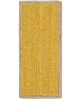 """Braided Jute A Bja4 Yellow 2' 6"""" x 6' Runner Area Rug"""