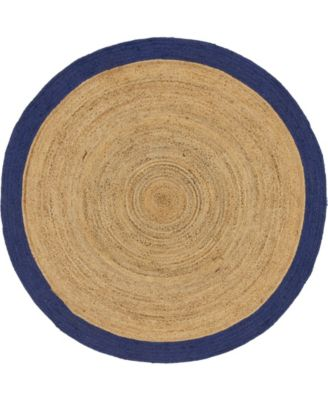 Braided Jute A Bja4 Natural 8' x 8' Round Area Rug