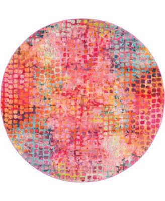 Crisanta Crs4 Multi/Pink 9' x 12' Area Rug