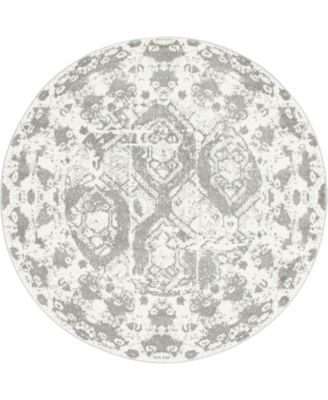 Mishti Mis5 Light Gray 8' x 8' Round Area Rug