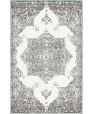 Mishti Mis6 Gray 4' x 6' Area Rug