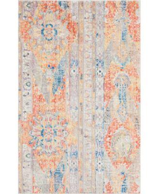 Nira Nir1 Orange 5' x 8' Area Rug