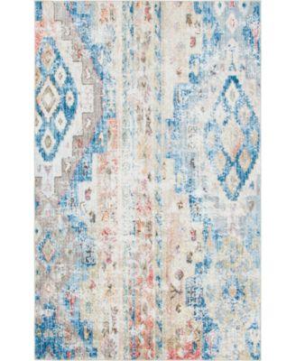 Nira Nir2 Blue/Beige 5' x 8' Area Rug