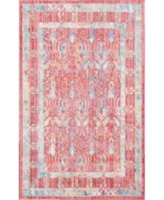 """Zilla Zil2 Red 3' 3"""" x 5' 3"""" Area Rug"""