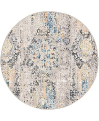 "Nira Nir1 Light Brown 3' 3"" x 3' 3"" Round Area Rug"