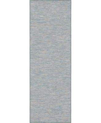 Pashio Pas8 Blue 2' x 6' Runner Area Rug