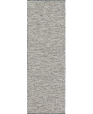 Pashio Pas8 Light Gray 2' x 6' Runner Area Rug