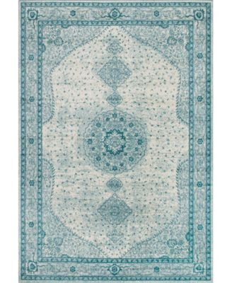 Mobley Mob1 Turquoise 10' x 14' Area Rug
