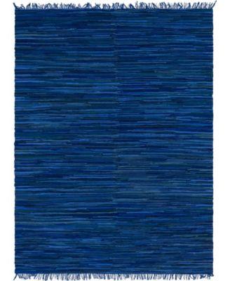 Jari Striped Jar1 Navy Blue 9' x 12' Area Rug