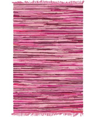 Jari Striped Jar1 Pink 4' x 6' Area Rug