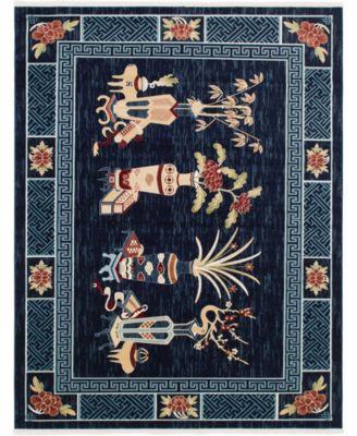 Sahil Sah6 Navy Blue 8' x 10' Area Rug