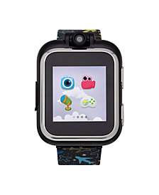 PlayZoom Kids Smartwatch with Black Planes Printed Strap