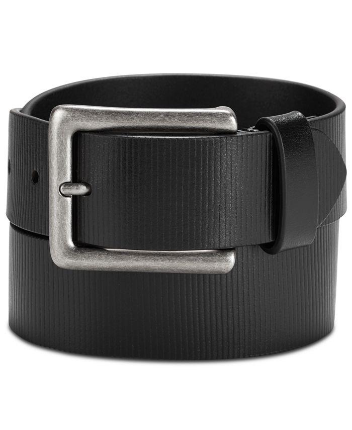 Calvin Klein - Men's Textured Leather Belt