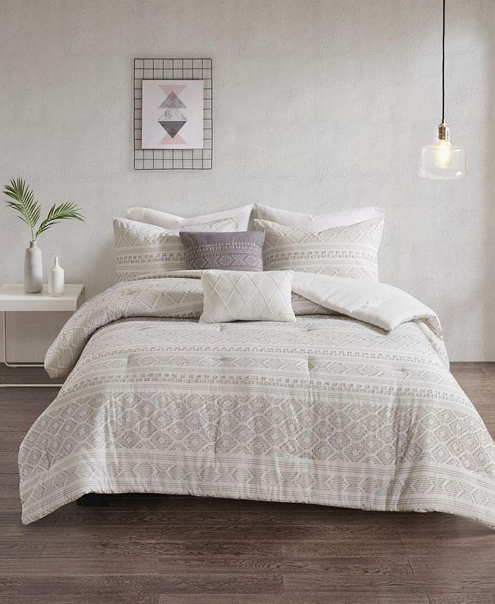 Urban Habitat - Lizbeth 5-Pc. Cotton Clip Jacquard Bedding Sets