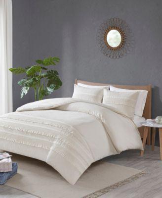 Amaya Full/Queen 3 Piece Cotton Seersucker Comforter Set