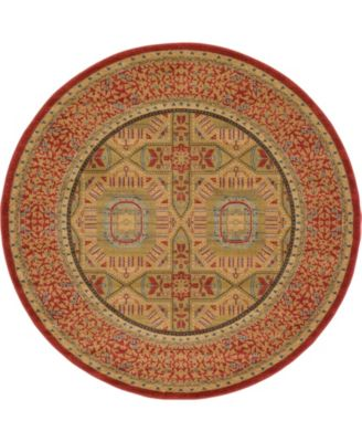 Wilder Wld6 Red 6' x 6' Round Area Rug