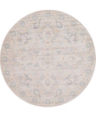 Caan Can7 Gray 6' x 6' Round Area Rug