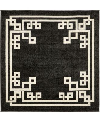 Anzu Anz3 Black 8' x 8' Square Area Rug