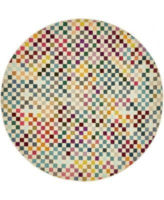 Crisanta Crs5 Multi 8' x 8' Round Area Rug
