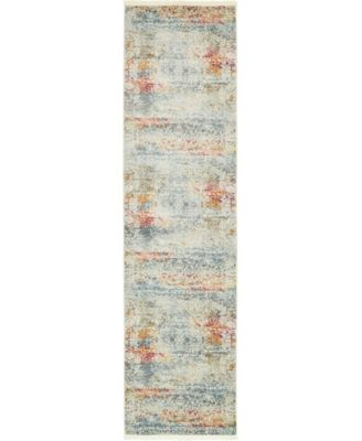 "Kenna Ken3 Ivory 2' 7"" x 10' Runner Area Rug"
