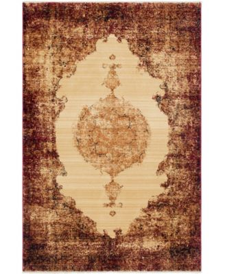 Thule Thu2 Red 5' x 8' Area Rug