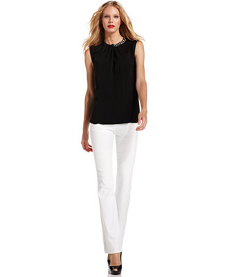 White Silk Blouse Macy'S 85