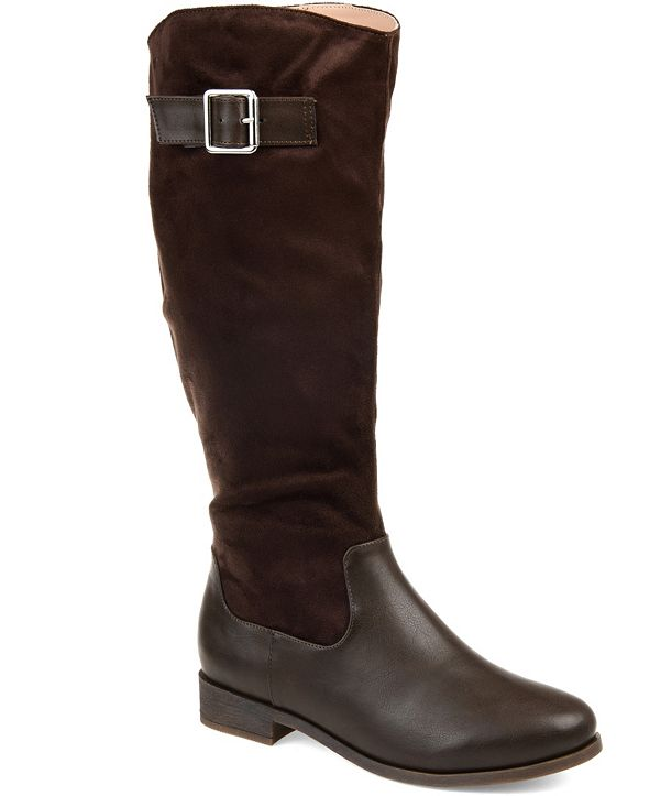 Journee Collection Women's Comfort Wide Calf Frenchy Boot