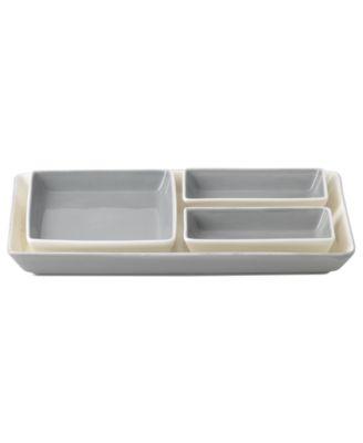 Vera Wang Wedgwood Dinnerware, Simplicity Hors D'oeuvres Set