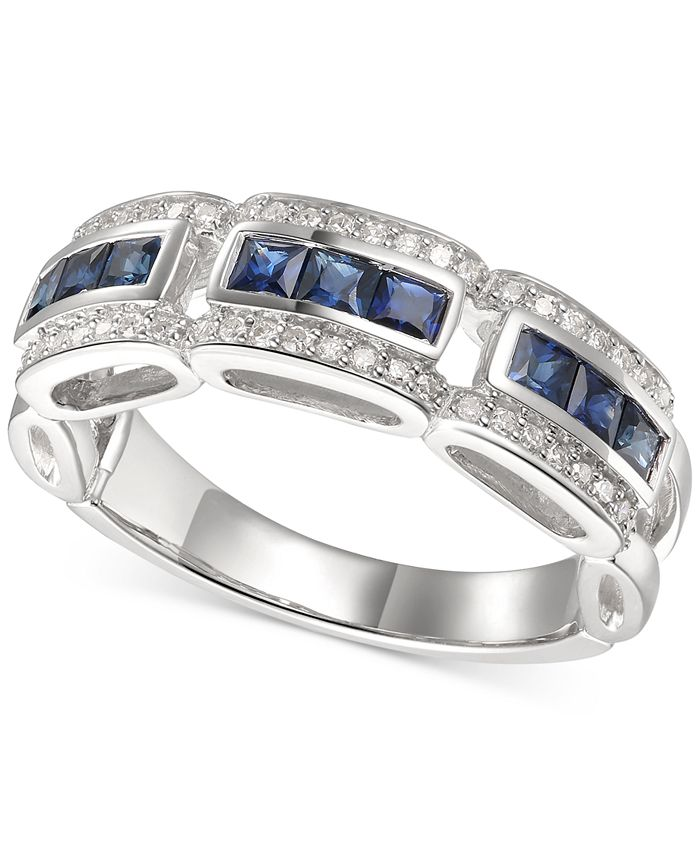 Macy's - Gemstone & Diamond (1/5 ct. t.w.) Ring in 14k Gold