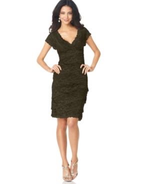 Marina Dress, Cap Sleeve Lace Cocktail Dress