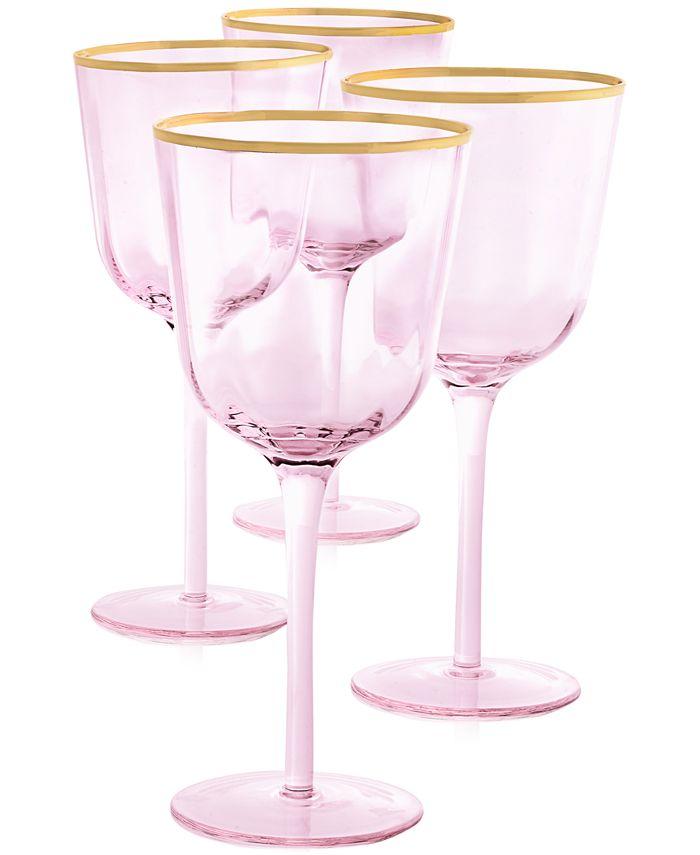 Martha Stewart Collection - Blush All-Purpose Glasses, Set of 4