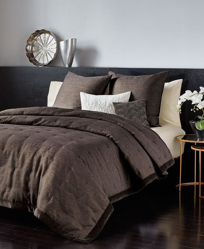 Donna Karan - Collection Radiance Quilt King Quilt in Charcoal