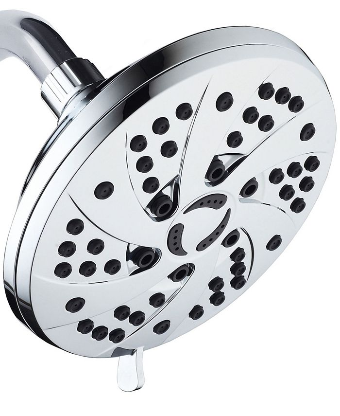 Aquadance - High Pressure 6-inch / 6-Setting Premium Rain Shower Head